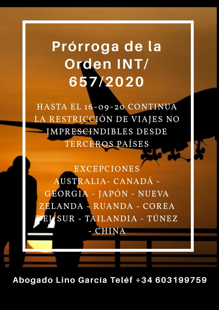 Ciudadanos de Países sin restricciones por motivo de viaje covid-19